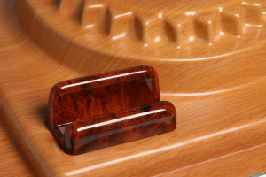 our plastic sheet laminated with a wood-grain film are formed into stunning shapes.